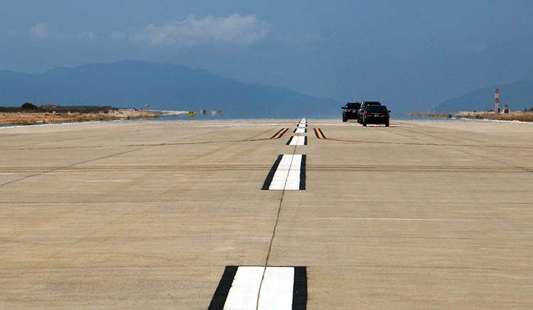 Đường băng số 2 tại sân bay quốc tế Cam Ranh (Khánh Hòa) đã hoàn thiện.