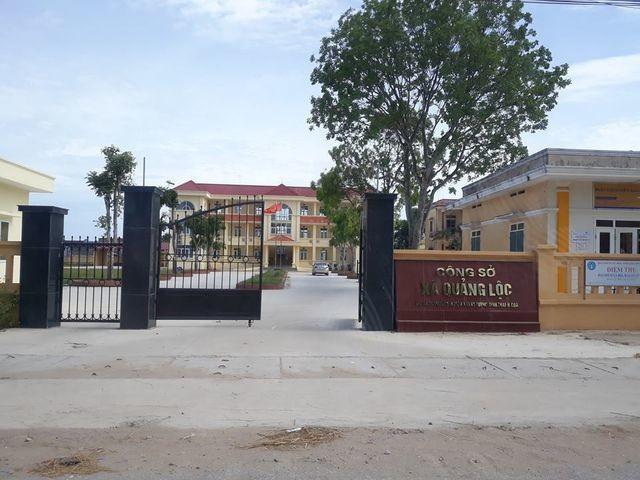 Trụ sở UBND xã Quảng Lộc- nơi ông Thành làm việc.