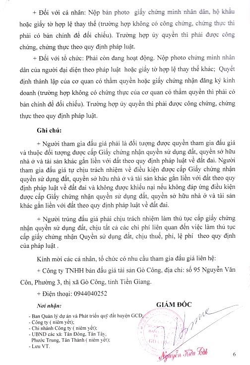 Ngày 3/6/2019, đấu giá quyền sử dụng đất tại huyện Gò Công Đông, tỉnh Tiền Giang - ảnh 6