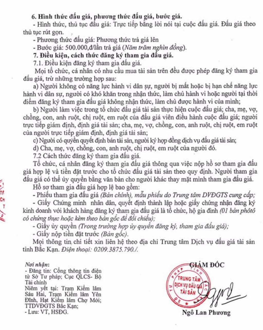 Ngày 17/5/2019, đấu giá lô gỗ tròn, gỗ xẻ tại tỉnh Bắc Kạn - ảnh 2