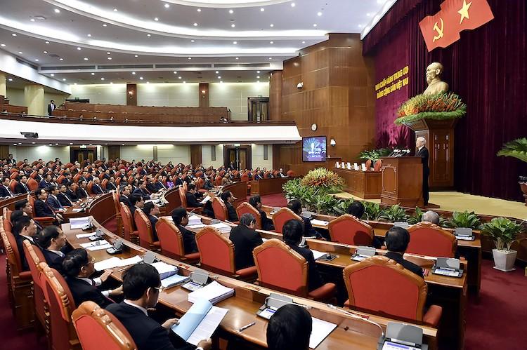 Một phiên họp của hội nghị Trung ương 8, khoá XII. Ảnh: TTXVN