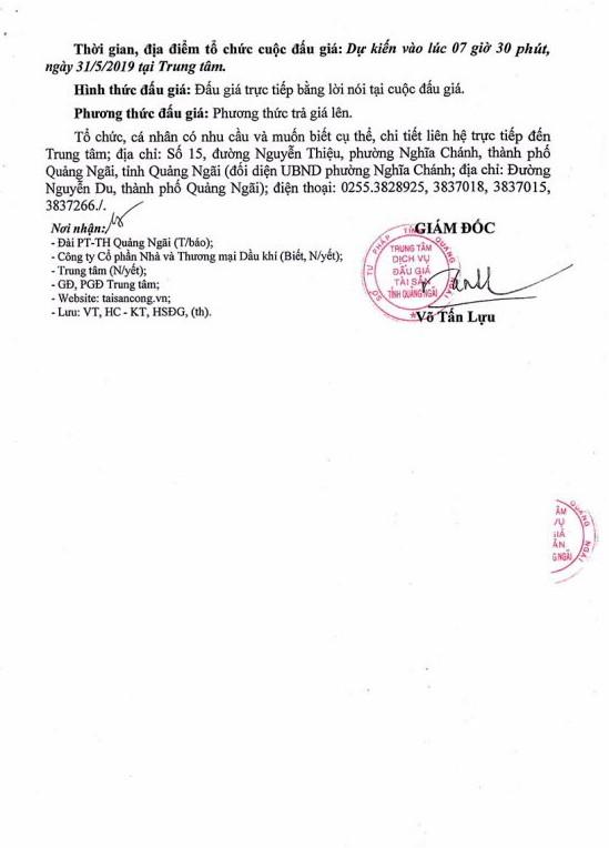Ngày 31/5/2019, đấu giá 03 xe ô tô tại tỉnh Quảng Ngãi - ảnh 3