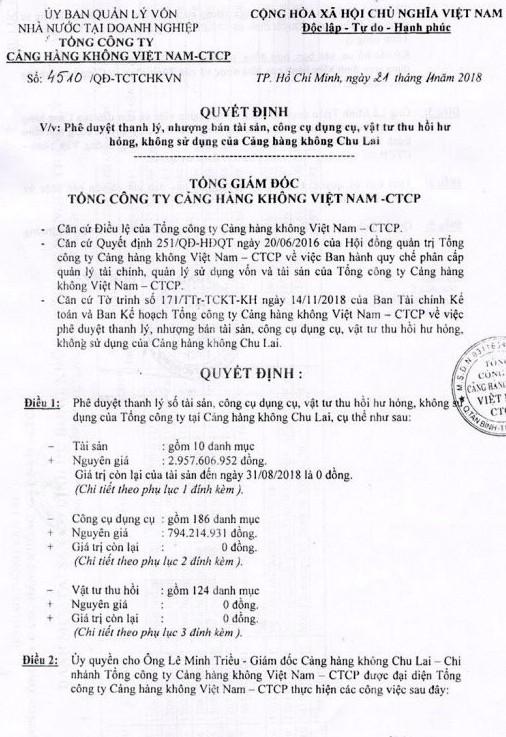 Ngày 31/5/2019, đấu giá lô công cụ dụng cụ, vật tư thu hồi hư hỏng tại tỉnh Quảng Nam - ảnh 1