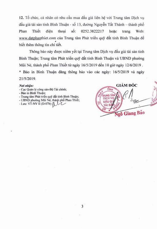 Ngày 13/6/2019, đấu giá quyền sử dụng đất tại thành phố Phan Thiết, tỉnh Bình Thuận - ảnh 3