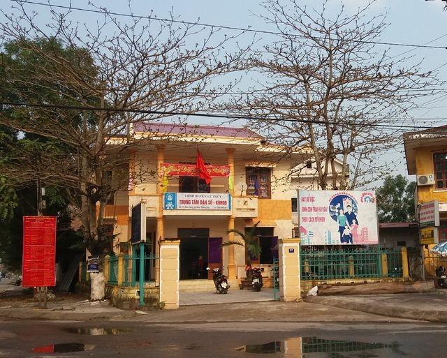 Trung tâm Trung tâm Dân số - Kế hoạch hóa gia đình huyện Lệ Thủy, nơi phát hiện 6 nữ cán bộ dùng chứng chỉ giả để xét tuyển viên chức.