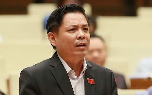 Bộ trưởng Giao thông Nguyễn Văn Thể trong một lần phát biểu trước Quốc hội.