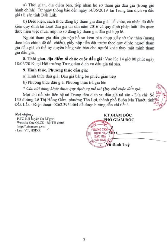 Ngày 18/6/2019, đấu giá 3 xe ô tô chuyên dụng tại tỉnh Đắk Lắk - ảnh 3