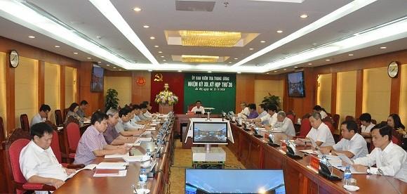 Ủy ban Kiểm tra Trung ương thông báo Kỳ họp 36