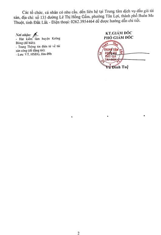 Ngày 17/6/2019, đấu giá lô 11,857 m3 gỗ các loại tại tỉnh Đắk Lắk - ảnh 2