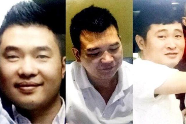 Ba đối tượng Nguyễn Ngọc Phúc, Hoàng Minh Châu và Nguyễn Tiến Long.