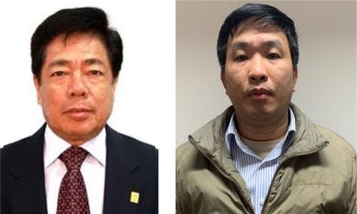 Cựu tổng giám đốc, phó tổng giám đốc Tuyến và Sơn (từ trái qua).