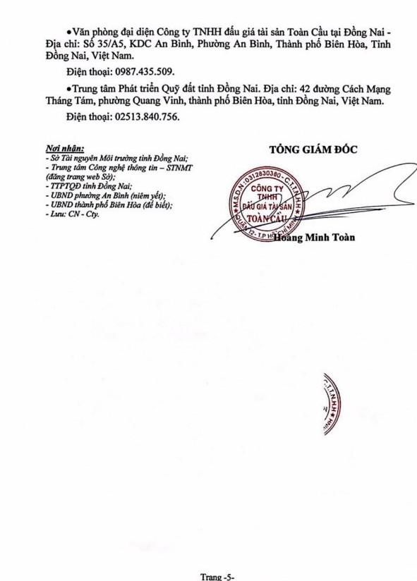 Ngày 5/7/2019, đấu giá quyền sử dụng đất tại thành phố Biên Hòa, tỉnh Đồng Nai - ảnh 5