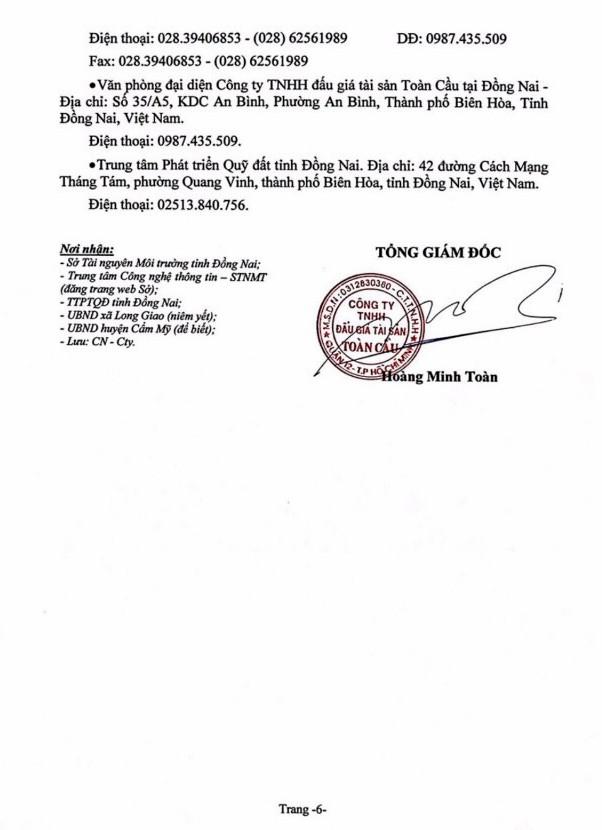 Ngày 4/7/2019, đấu giá quyền sử dụng 18 thửa đất tại huyện Cẩm Mỹ, tỉnh Đồng Nai - ảnh 6