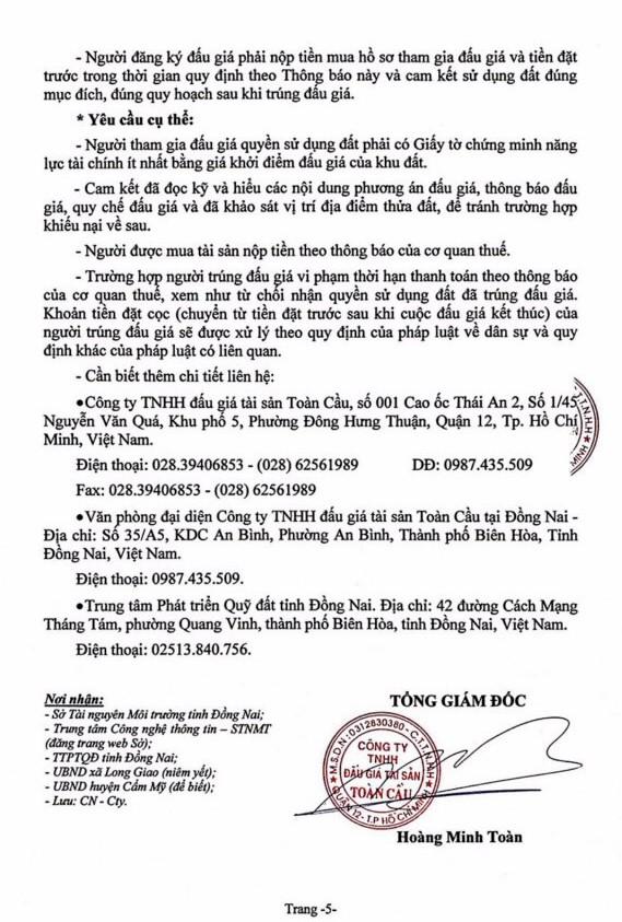 Ngày 4/7/2019, đấu giá quyền sử dụng đất tại huyện Cẩm Mỹ, tỉnh Đồng Nai - ảnh 5