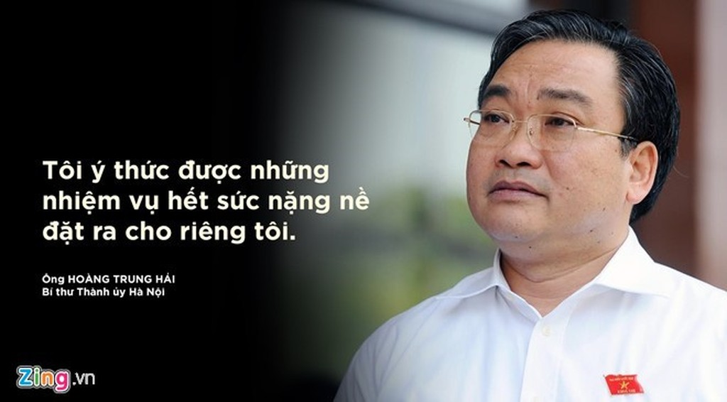 Bí thư Thành ủy Hà Nội Hoàng Trung Hải. Ảnh: Hoàng Hà - Nguyên Anh.