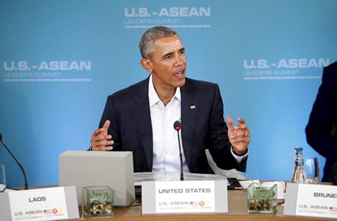 Tổng thống Obama phát biểu khai mạc hội nghị. Ảnh: Reuters