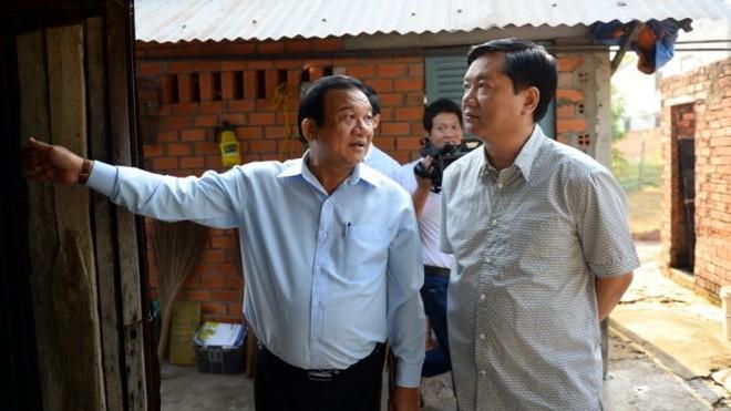 Bí thư thành ủy TP.HCM Đinh La Thăng đến Củ Chi sáng 18-2 - Ảnh: Thuận Thắng