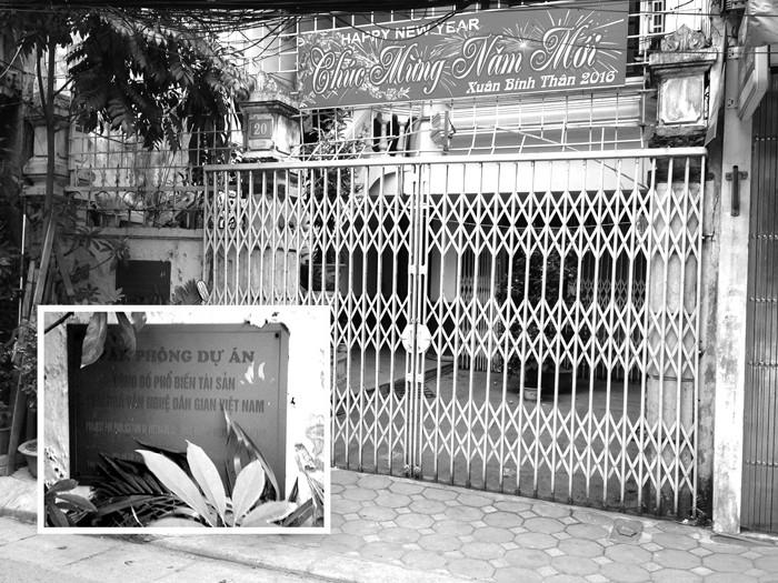 Địa điểm phát hành HSYC của Bên mời thầu - Văn phòng Dự án công bố, phổ biến tài sản văn hóa văn nghệ dân gian Việt Nam. Ảnh: Hải Bình