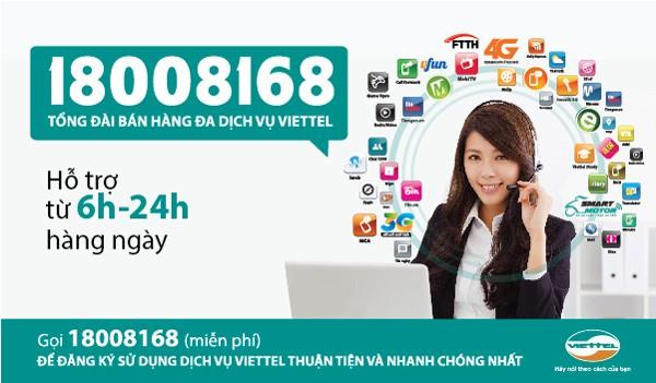 Tổng đài 18008168 – Thao tác nhanh để sử dụng dịch vụ Viettel