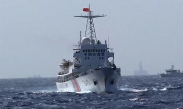 Một tàu hải cảnh của Trung Quốc. Ảnh:Reuters TV.