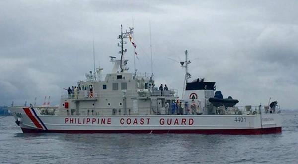 Tàu BRP Tubbataha rời nhà máy đóng tàu Yokohama, Nhật Bản, ngày 11/8. Ảnh:Rappler.