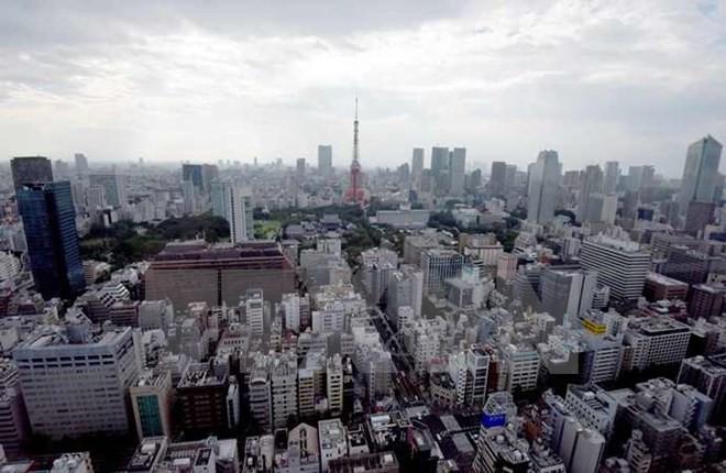 Toàn cảnh trung tâm thành phố Tokyo ngày 15/8. (Nguồn: AFP/TTXVN)