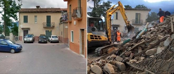 Hình ảnh đối lập của thị trấn Italy trước và sau động đất - ảnh 2