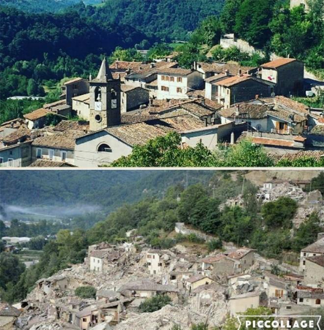 Hình ảnh đối lập của thị trấn Italy trước và sau động đất - ảnh 7