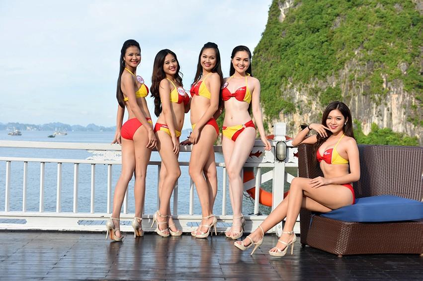 Bikini Vietjet tôn vinh nét đẹp Hoa hậu Việt Nam 2016 - ảnh 1