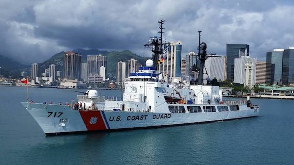 Tàu USCGC Mellon của Lực lượng Bảo vệ Bờ biển Mỹ. (Nguồn: japantimes.co.jp)