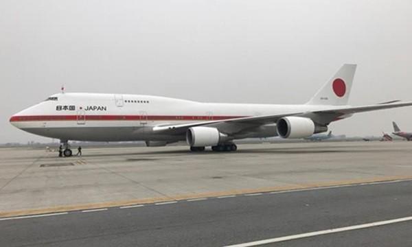 Chuyên cơ Air Force One của Nhật Bản tại sân bay Nội Bài trong chuyến thăm Việt Nam lần đầu tiên của Nhà vua và Hoàng hậu Nhật Bản. Ảnh:Giang Huy.