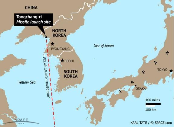 Nhật, Hàn nói tên lửa Triều Tiên bay xa 1.000 km - ảnh 1