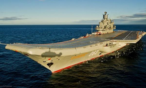 Tàu sân bay Đô đốc Kuznetsov. Ảnh:Sputnik