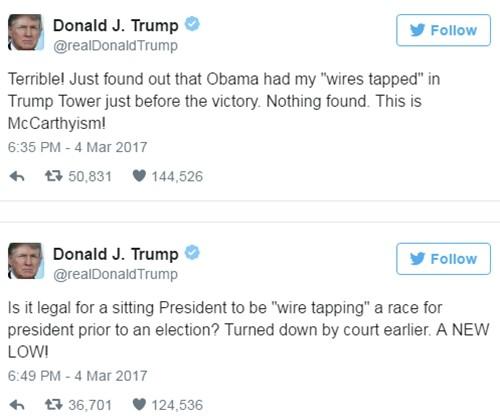 Nhà Trắng đính chính cáo buộc Obama nghe lén Trump - ảnh 1