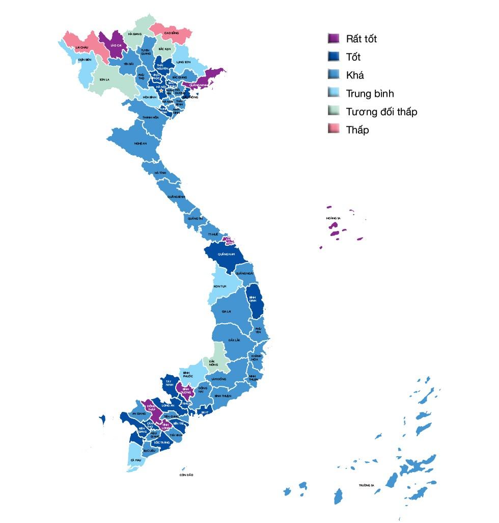 Bản đồ năng lực cạnh tranh cấp tỉnh 2016 - ảnh 1