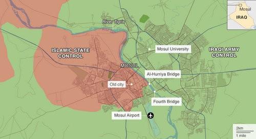 Quân đội Iraq chiếm lại 90% thành cổ Mosul từ tay IS - ảnh 1