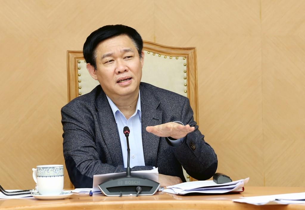 Phó Thủ tướng Vương Đình Huệ chủ trì buổi họp với các bộ, ngành bàn về việc triển khai Nghị quyết số 30/2017/NQ-CP của Chính phủ. Ảnh: VGP/Thành Chung