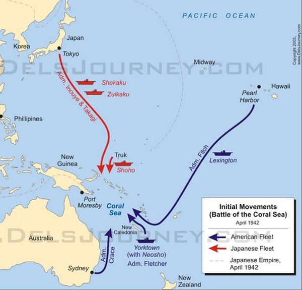 Trận đụng độ lớn đầu tiên giữa các tàu sân bay trong lịch sử - ảnh 1