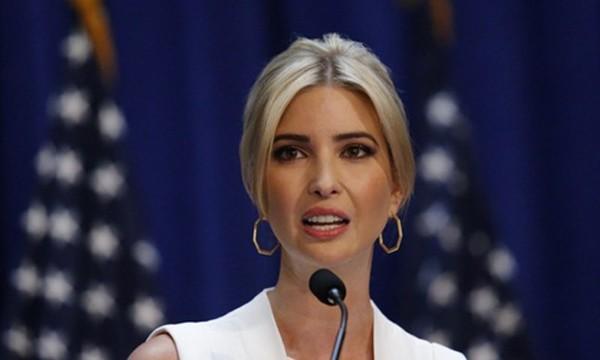 Ivanka Trump, con gái Tổng thống Mỹ Donald Trump. Ảnh:AFP