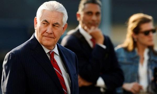 Ngoại trưởng Mỹ Rex Tillerson hôm 22/2 tới thành phố Mexico City, Mexico. Ảnh:Reuters