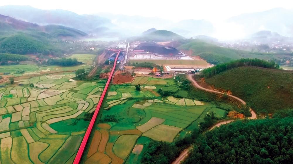 Hệ thống vận tải ngoài mỏ với trên 7 km băng tải trị giá 350 tỷ đồng của Than Nam Mẫu