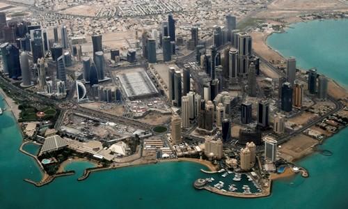 Khu vực ngoại giao ở Doha, Qatar. Ảnh:Reuters.