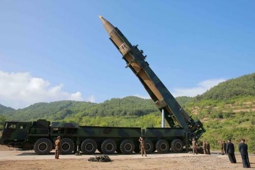 Triều Tiên hôm qua phóng tên lửa Hwasong-14. Ảnh:Reuters.