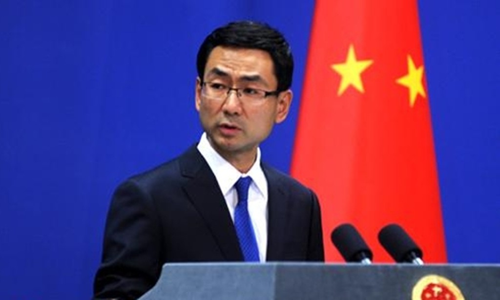 Người phát ngôn Bộ Ngoại giao Trung Quốc Cảnh Sảng. Ảnh:CRI.