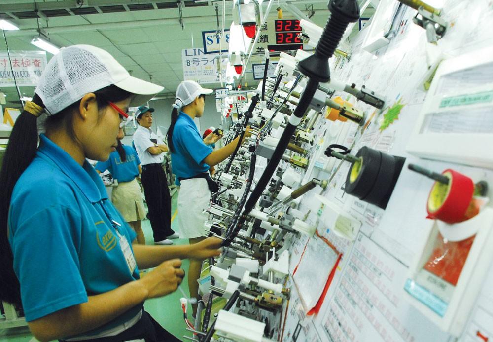 Công nghiệp chế biến, chế tạo là lĩnh vực thu hút nhiều nhất vốn đầu tư của Nhật Bản với 33,82 tỷ USD. Ảnh: NĐH