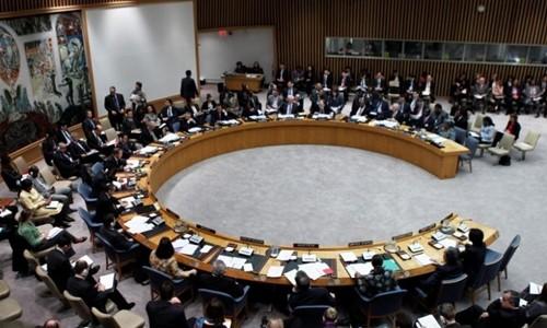 Một phiên họp Hội đồng Bảo an. Ảnh:Reuters.