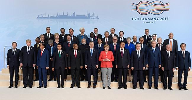 Các nhà lãnh đạo dự Hội nghị G20 năm 2017.