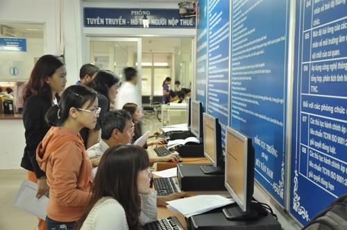 Cục Thuế TP HCM đã hoànhơn 7.800 tỷ đồng thuế giá trị gia tăng trong6 tháng. Ảnh:LC