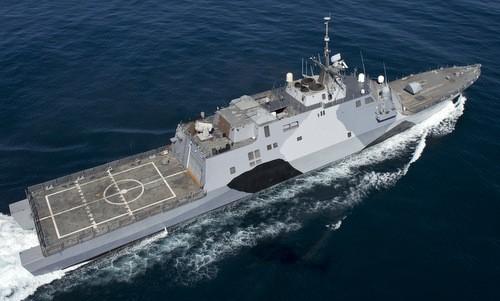 Dự án FFG(X) sẽ có hình dáng tương đồng với các tàu LCS. Ảnh:Hải quân Mỹ.