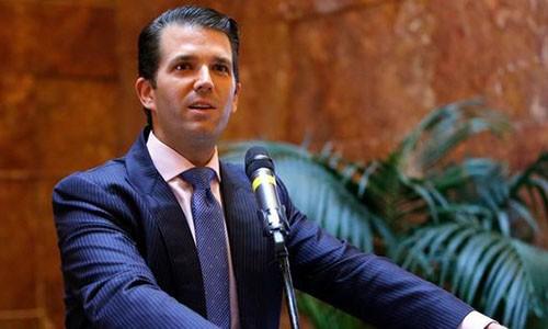 Con trai Tổng thống Mỹ Donald Trump. Ảnh:AP.